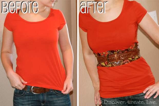 Переделка и удлиненние футболки (Diy)