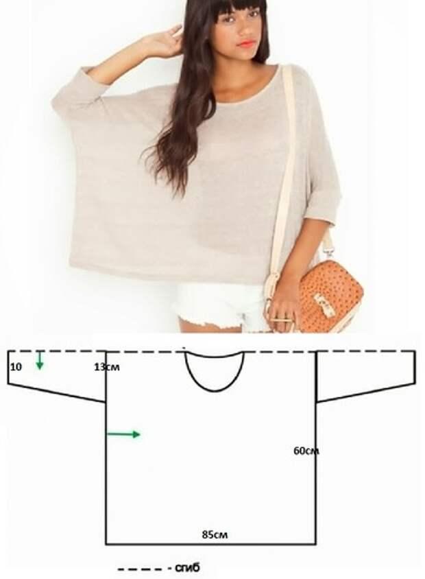 простая выкройка футболка
