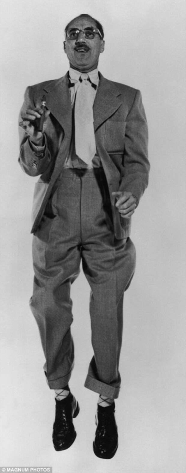 Американский комик Граучо Маркс.