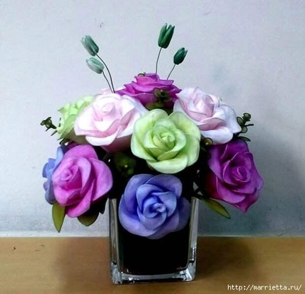 Розы из капрона. Красивые идеи и мастер-класс (2) (495x479, 131Kb)