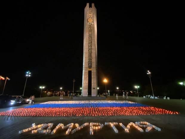 Российский триколор из 5 тысяч свечей выложили в Ижевске