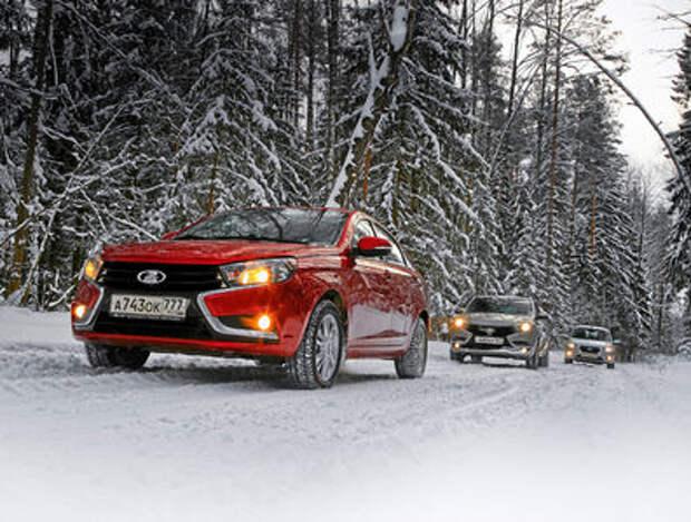 Большой зимний тест: Lada Vesta, Lada XRAY и Datsun mi-DO из парка ЗР