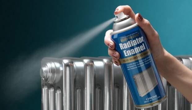 как покрасить чугунный радиатор