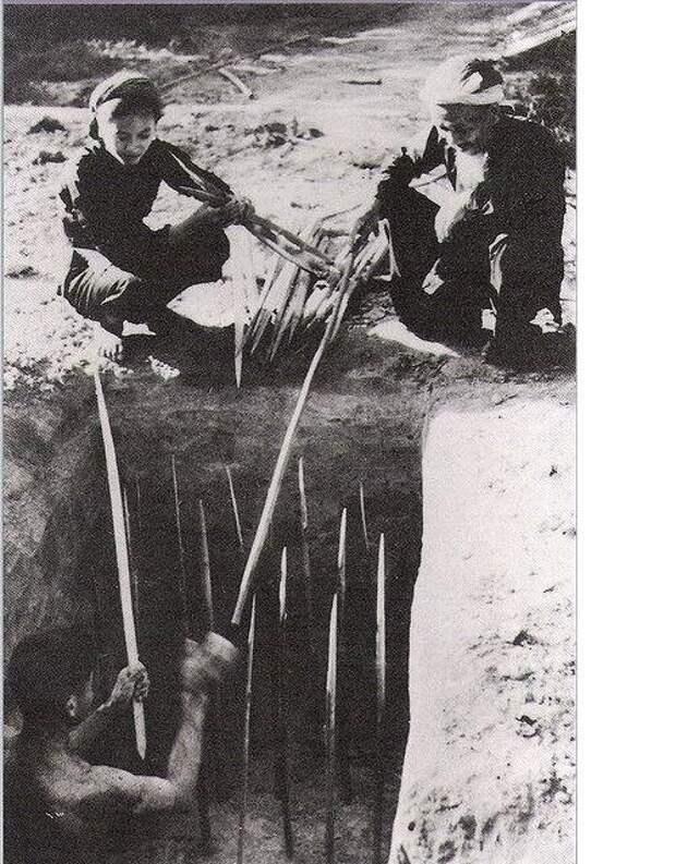 Жуткие ловушки вьетнамских партизан. Вьетнам. 1960-е г. интересно, история, фото