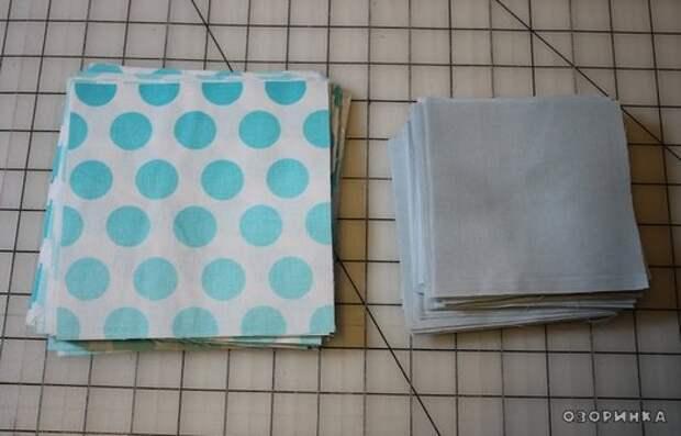 начинаем изготавливать обьемное одеяло своими руками из лоскутков