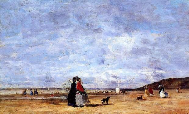 Французский художник Эжен-Луи Буден (Eugene Boudin, 1824 - 1898)