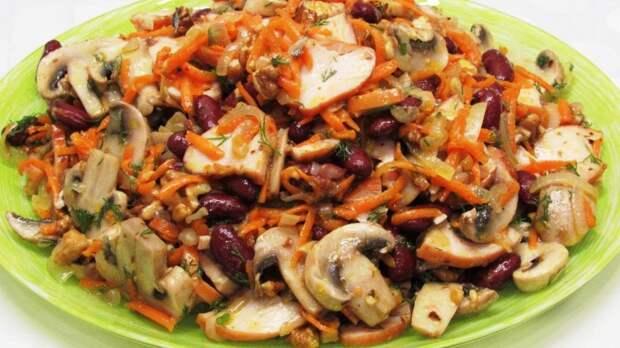Новый салат «Привет из Одессы». И на стол подать не стыдно, рецепт салата без майонеза на праздник