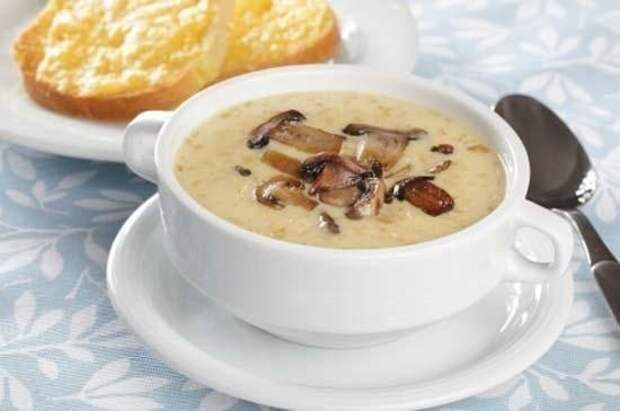 Грибной суп с сыром