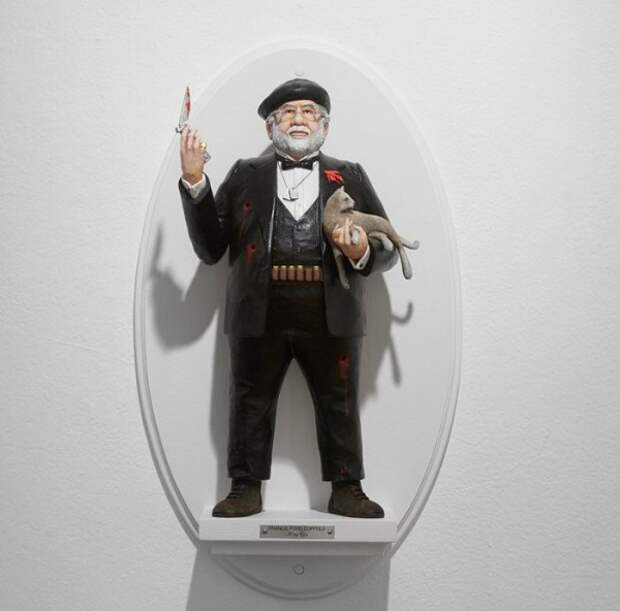 Скульптор создал скульптуры знаменитых режиссеров Голливуда
