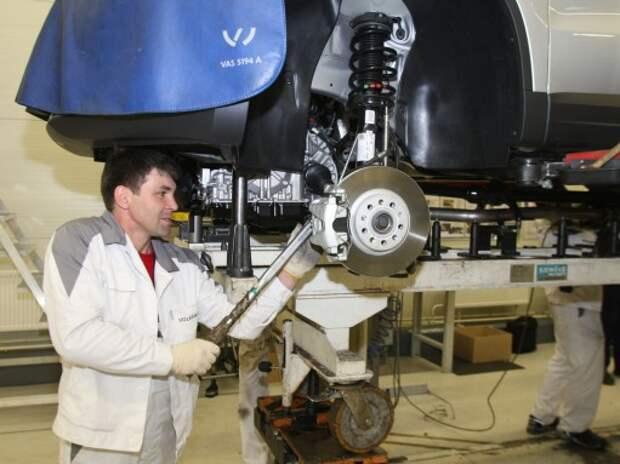 Завод Volkswagen в Калуге третий раз в этом году останавливает производство