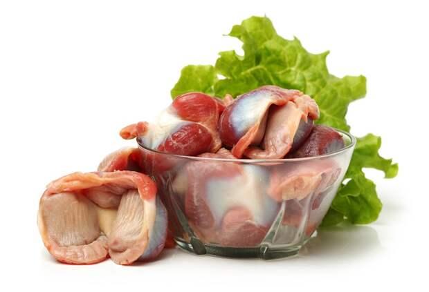 блюда из куриных желудков с грибами
