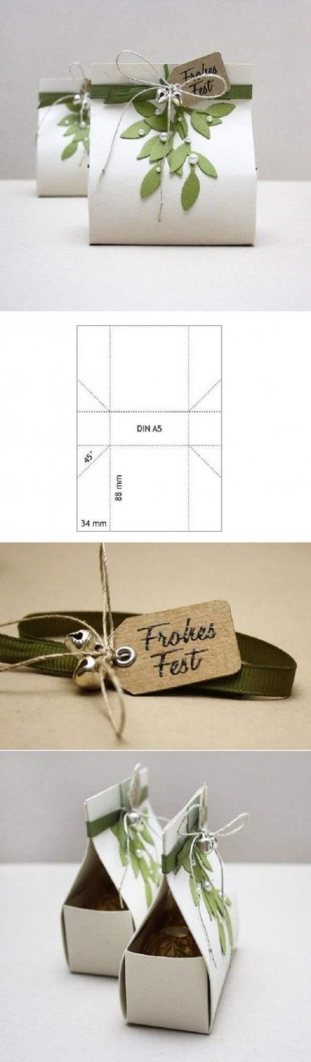 Шаблон упаковки для маленьких подарков
