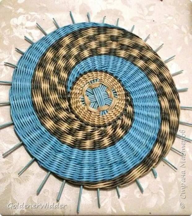 Мастер-класс Плетение Панно 40 см Спиральное плетение Бумага газетная Трубочки бумажные фото 28
