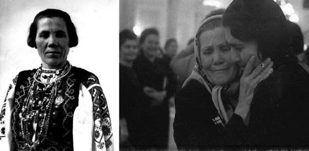 Герой Социалистического труда Н. Заглада в молодости и в зрелости на Конгрессе советских женщин с вдовой главы компартии Ирака Таминой Адиль