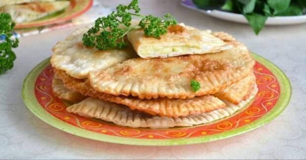 Чебуреки с сыром и картошкой