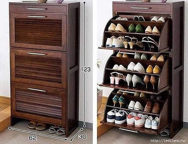 шкаф для обуви идеи (604x464, 201Kb)