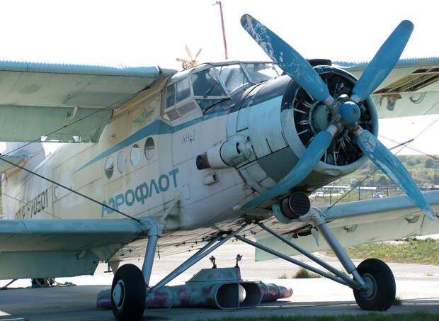Antonov An-2 landat på Gotland 1987.jpg