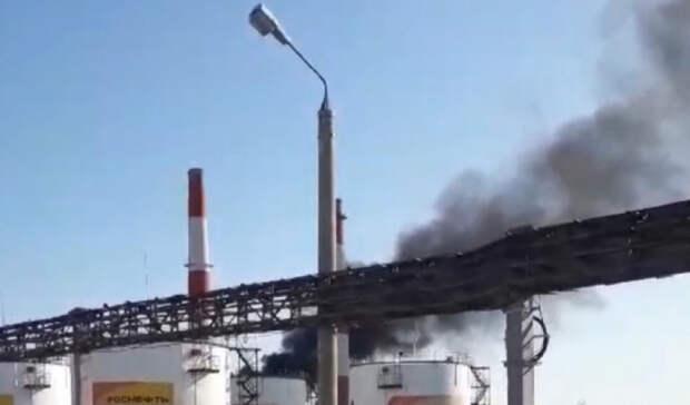 Крупный пожар нареакторе Сызранского НПЗ ликвидирован