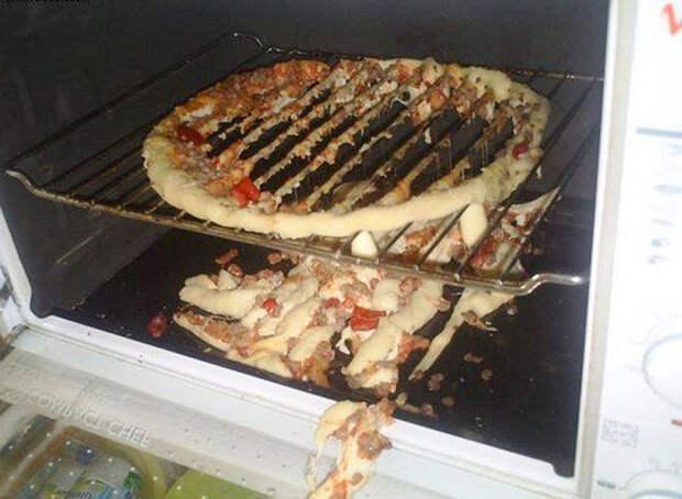 Домашняя пицца еда, ожидание, провал, реальность