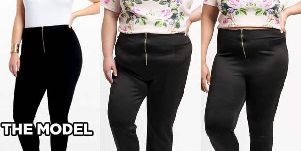 Брюки на молнии с высокой талией от Fashion to Figure: у обеих девушек - размер 3X интернет, полные женщины, шопинг