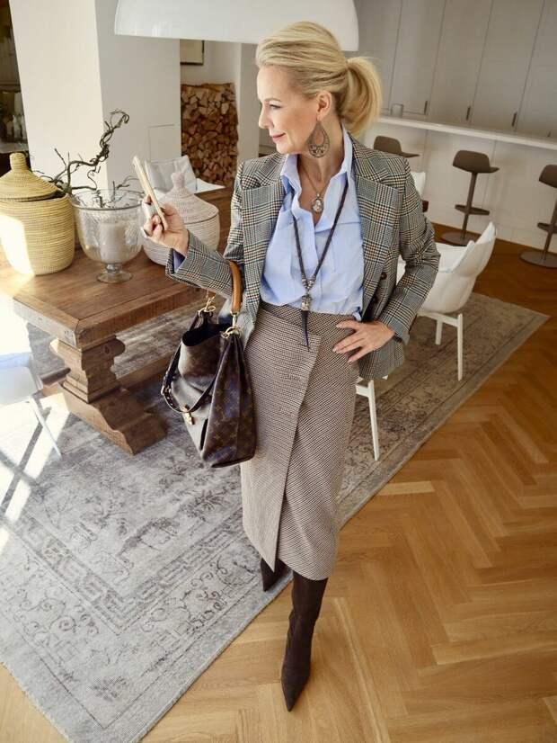 В чем ходить на работу женщине? /Фото: i.pinimg.com