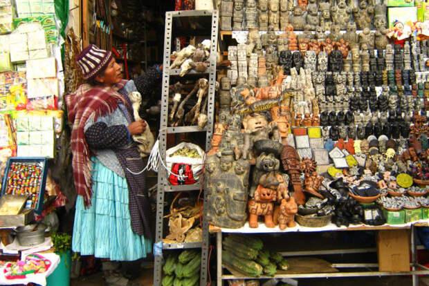 Рынок ведьм, Боливия / Фото: guayoyoenletras.net