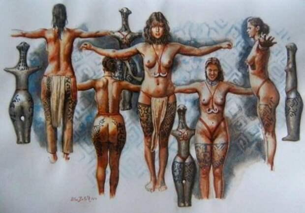Реконструкции облика палеолитических женщин по статуэткам-венерам.