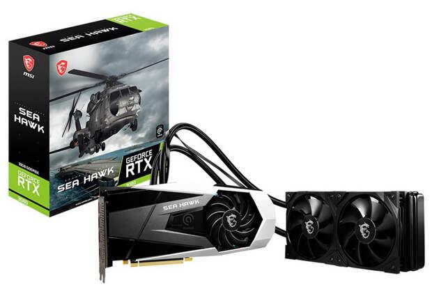 MSI выпустила GeForce RTX 3080 Sea Hawk X с гибридной системой охлаждения