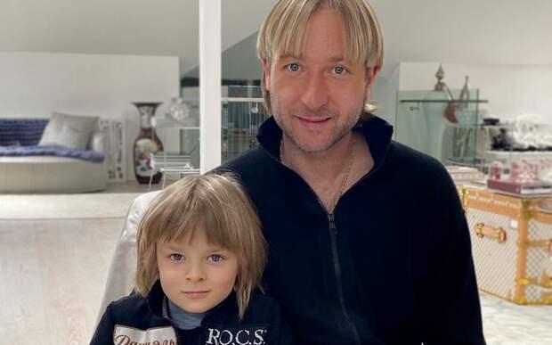 Жена Плющенко— о7-летнем сыне: «Мечтает повторить рекорд папы. Остановить его могут только проблемы создоровьем»