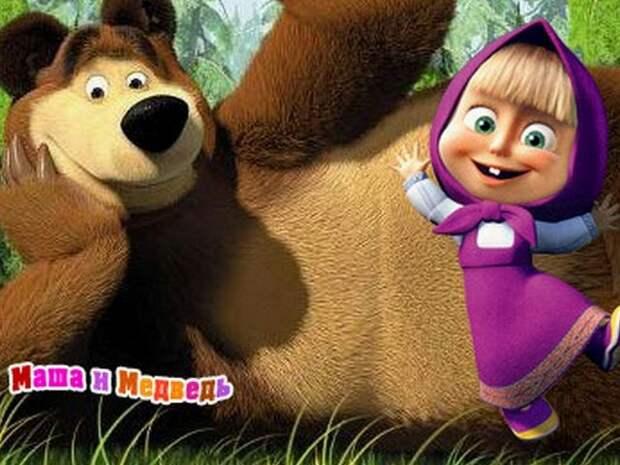 У детишек и их родителей в Италии появились новые мультяшные кумиры: Маша и Медведь