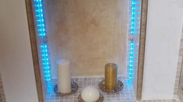 Камин с подсветкой