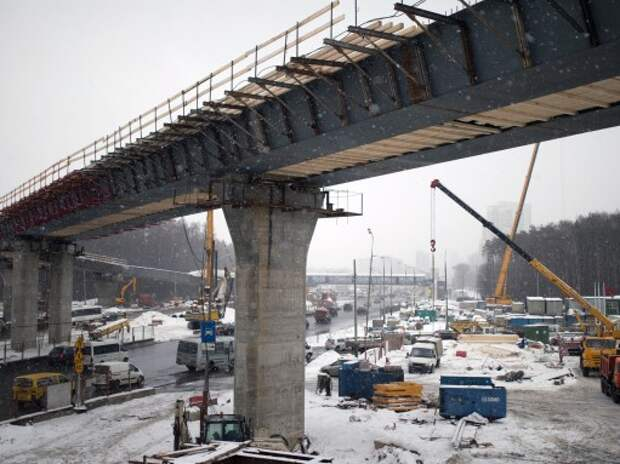Развязку Ленинского проспекта с МКАД завершат осенью 2015 года
