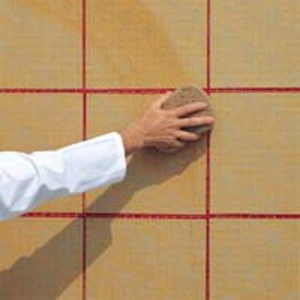 Увлажнение бумаги на мозаике