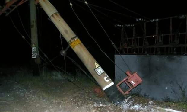 Харьковские партизаны взорвали опоры сети на узловой станции Основа, Южной железной дороги под Харьковом