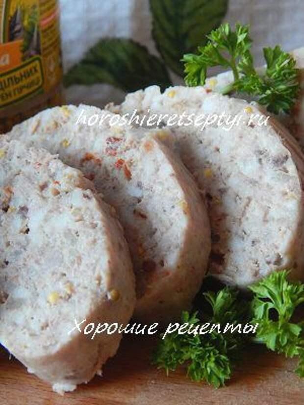 Домашняя колбаса из свинины