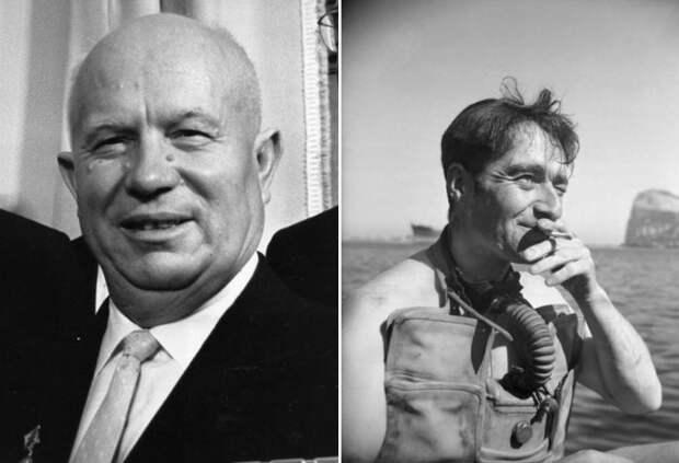 Н. Хрущев и английский диверсант Лайонел Крэбб