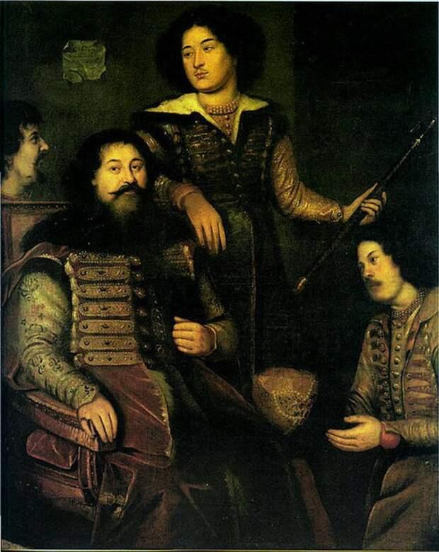 Старинные портреты русских дипломатов и государственных деятелей 17 века.