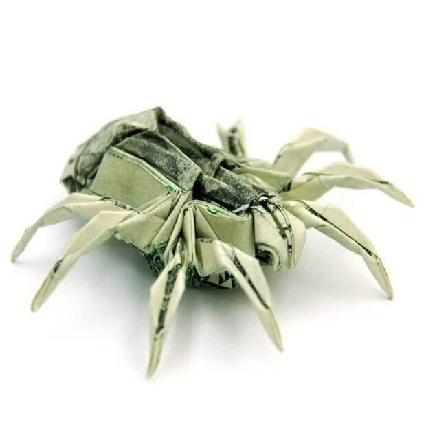 Оригами из денег - паук