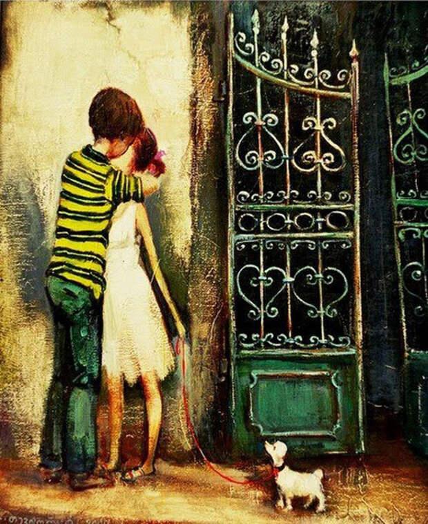 Первый поцелуй. Автор: Ладо Тевдорадзе.
