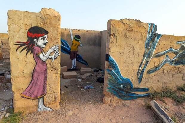 150 уличных художников из 30 стран, превратили старую деревушку Эр-Рияд в Тунисе в настоящую галерею под открытым небом (9)