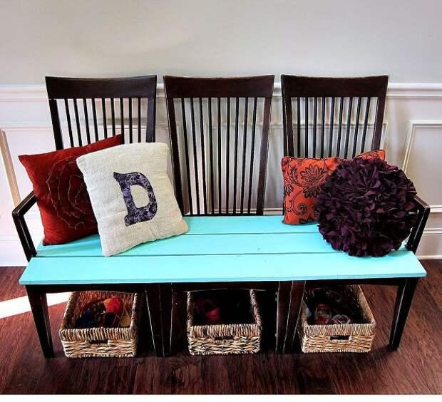 Скамейка из стульев (Diy)