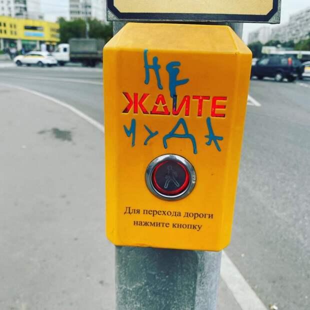 Фото дня: грустная кнопка у метро «Бабушкинская»