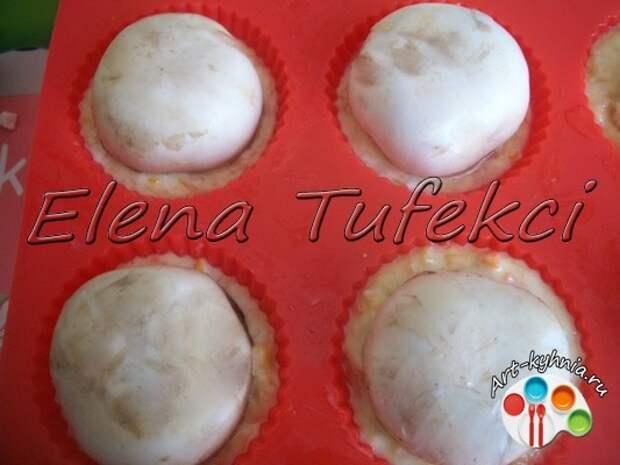 Кексы из кабачков с грибами