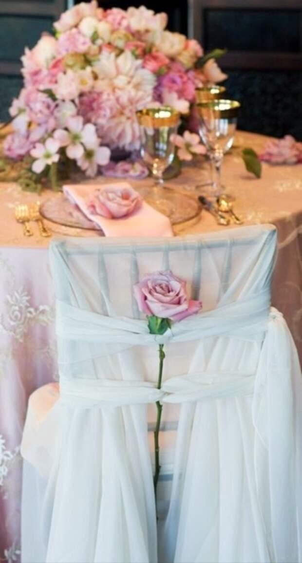Свадебный декор стульев часть 2