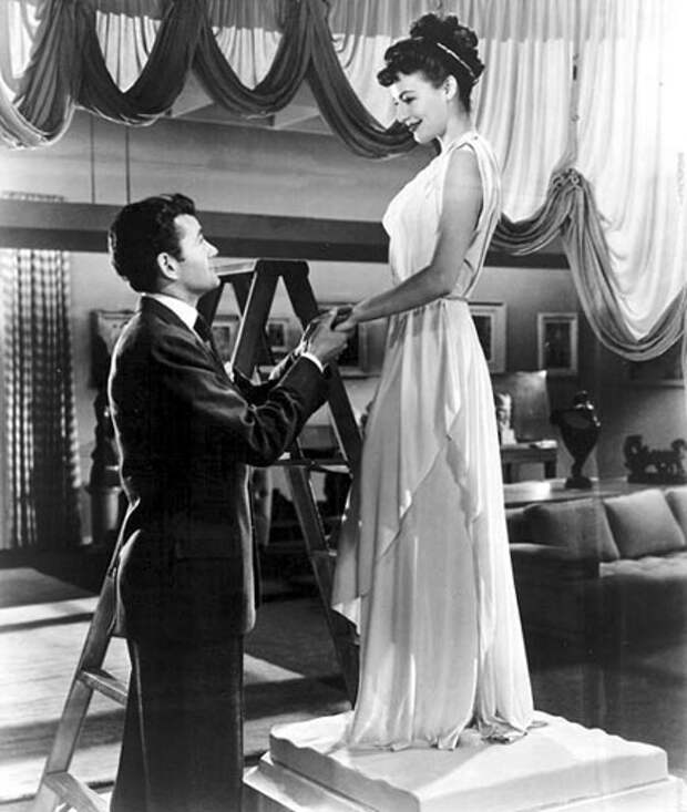 """Ава Гарднер в фильме """"Одно прикосновение Венеры"""", 1948 год."""
