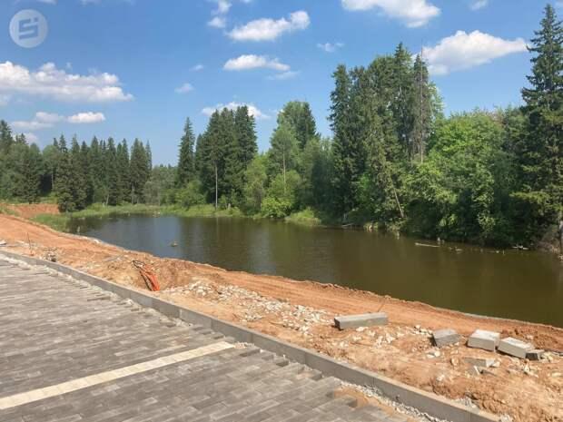 Набережную реки Подборенки в Ижевске благоустроят к сентябрю