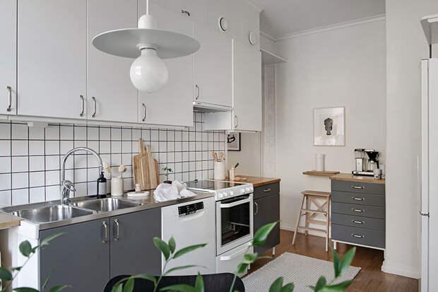 Светлая квартира с неправильной планировкой в красивой историческом доме в Гётеборге (79 кв. м)