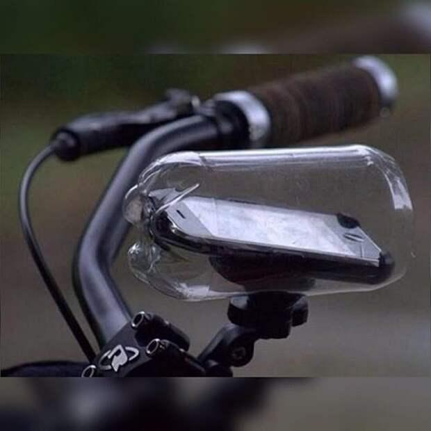 Лайфхак для велодержателя телефона