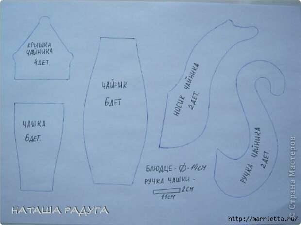 Текстильный сувенир для кухни. Чайник и чашка (4) (520x390, 76Kb)