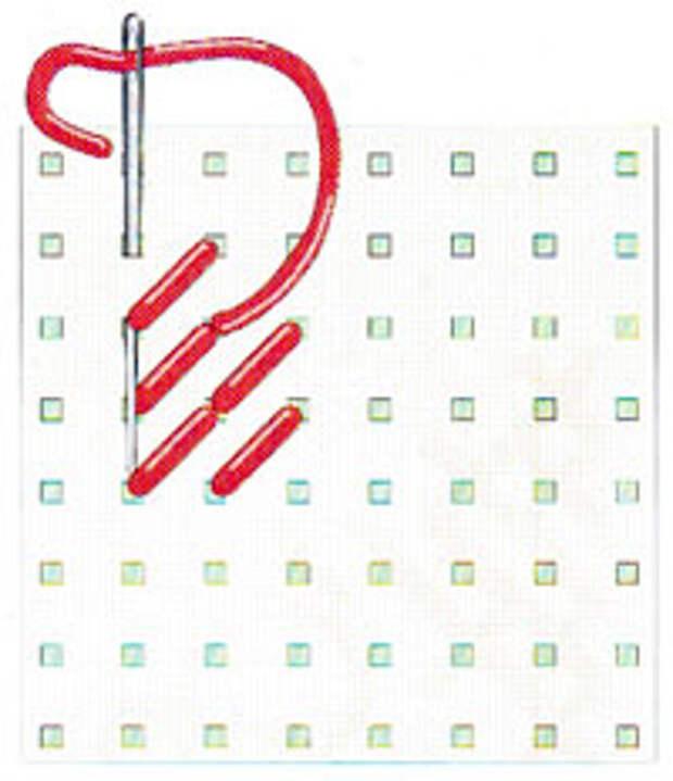 Крестик верхним диагональным стежком